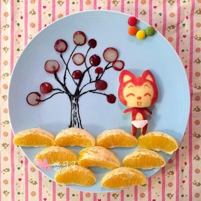 趣味童餐—水果拼盘(欢乐的阿狸)