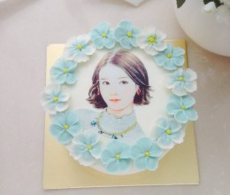 糖纸3d旗袍女郎蛋糕