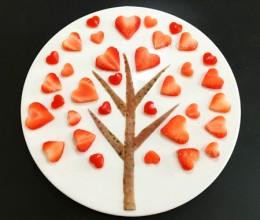 创意水果拼盘-爱心树