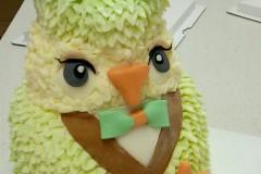 3D立体猫头鹰蛋糕