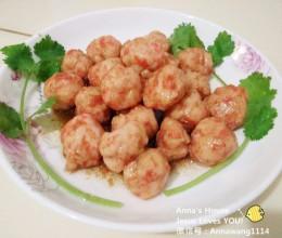 胡萝卜虾肉丸