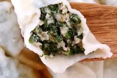 蒲公英猪肉饺子