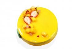 芒果百香果慕斯 Mango Mousse With Pineapple Jelly