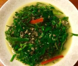 韭菜(青蒜)炒螺丝肉