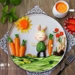 小兔的胡萝卜儿童餐