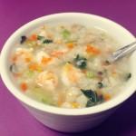 虾仁蔬菜粥(电炖锅版)