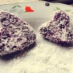 雪花紫薯饼