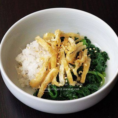 油豆腐拌茼蒿