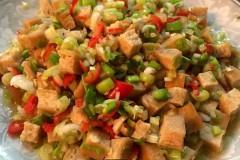 蒜白豆腐干