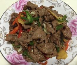 青红辣椒炒牛肉