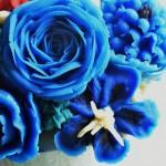 蓝色主题,豆沙裱花