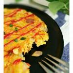 米饭蔬菜蛋饼