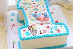 数字1蛋糕