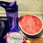 西瓜火龙果果汁
