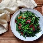 小腊肉炒韭苔