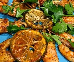 黑胡椒青柠虾