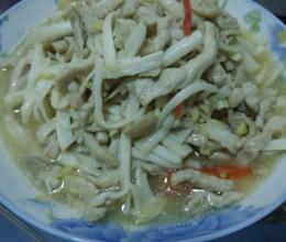 海鲜菇肉丝
