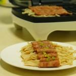 培根金针菇卷#烤肉机##十分钟#