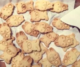 可爱黄油椰香饼干