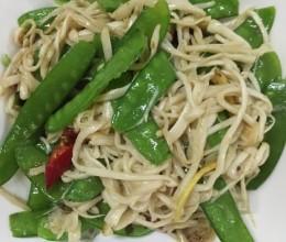白玉菇炒扁豆