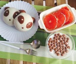 可爱熊猫面包~天然酵母版(或波兰种)