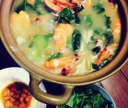 砂锅排骨虾粥