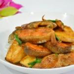 三文鱼烧豆腐