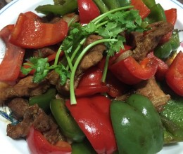 红黄椒炒肉片