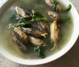 蛏子青菜汤