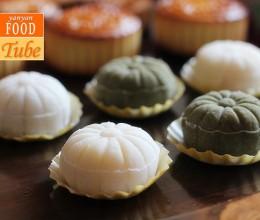 奶酪榴莲冰皮月饼 奶酪果酱Ice Moon Cakes with Durian & Cream Cheese