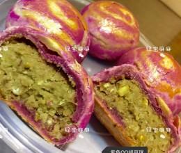 紫薯木薯绿豆酥