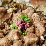荷叶紫薯粉蒸排骨