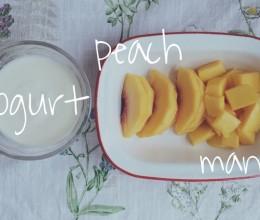 黄桃芒果酸奶