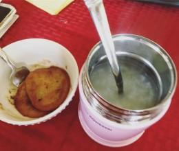糖油粑粑 & #焖烧杯 白粥