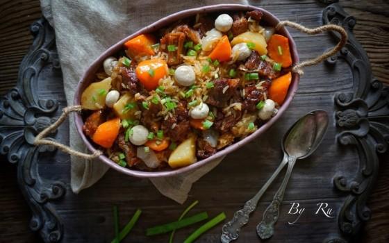 土豆牛腩焖饭