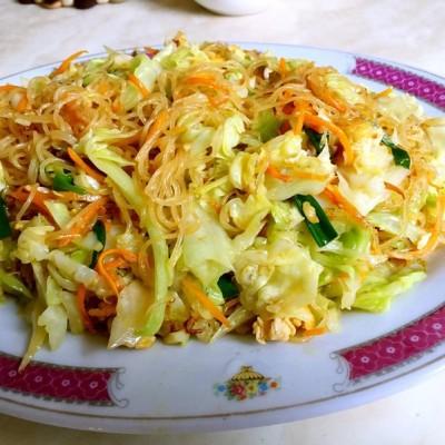 夜市大排档菜谱-炒米粉