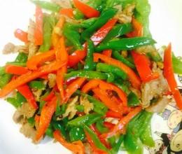 青红椒炒肉
