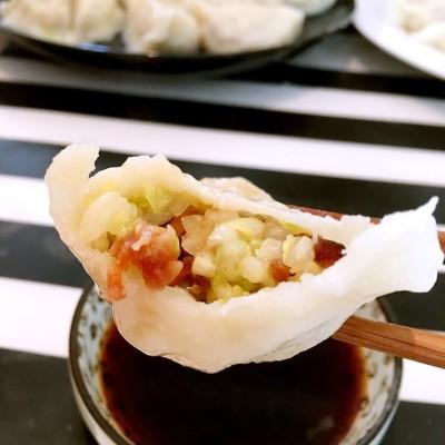 白菜面渣馅饺子