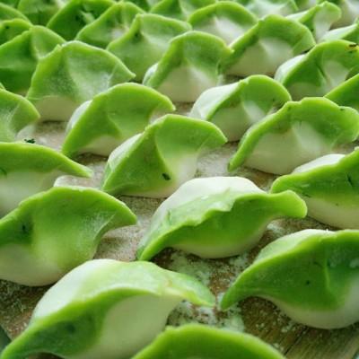 彩色饺子之~《翡翠饺子》