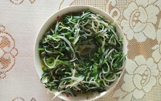 韭菜炒豆芽菜