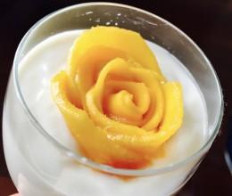 芒果花酸奶