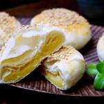 奶油绿豆金沙饼
