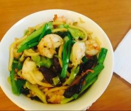 炒碱面 沙虾