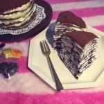 奥利奥双色千层蛋糕