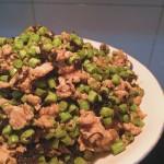 芽菜肉末炒豇豆