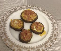 烤香菇(鸡蛋+香肠)