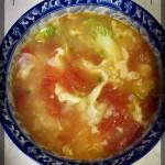 番茄蛋疙瘩汤