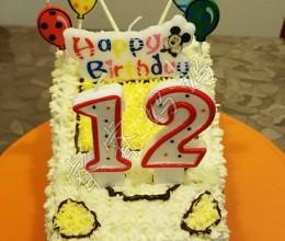 3D汽车生日蛋糕