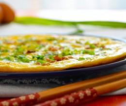 快手菜 香葱肉碎煎蛋