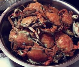 鲜到没朋友的蒸螃蟹